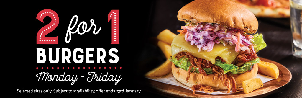 2-4-1 Burgers at The Earl Derby