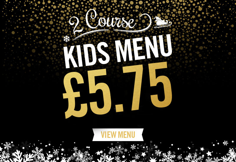 Kids Festive Menu at The Earl Derby